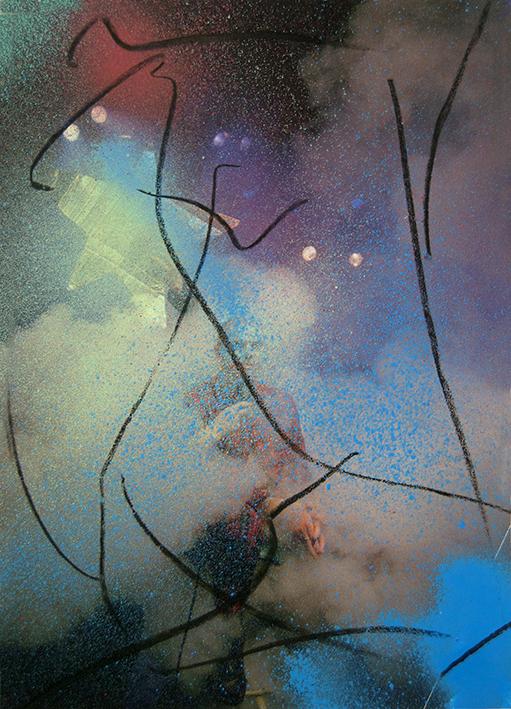Manuel Pomar art contemporain contemporary art Toulouse dérive amertume dessin histoire pop référence nature culture peinture Golgotha Golgotha picnic théâtre Garonne peinture spray techniques mixtes mix media drawing image picture abstrait abstrait peinture couleur gravité painting