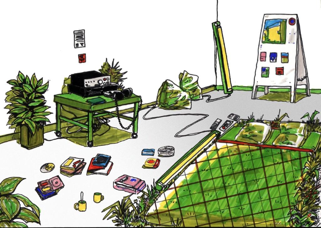 art contemporain contemporary art collectif d'artistes collective people alp le collectif alaplage affiche flyers cartes postales Hyper-ALP produits dérivés diffusion Pascal Marzo dessin dessin préparatoire croquis