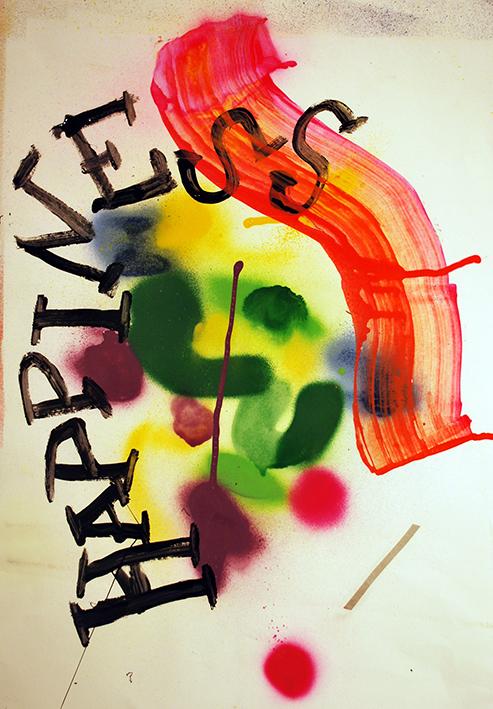 Manuel Pomar art contemporain contemporary art Toulouse dérive amertume dessin histoire pop référence nature culture peinture Golgotha Golgotha picnic théâtre Garonne peinture spray techniques mixtes mix media drawing image picture abstrait abstrait happiness peinture painting