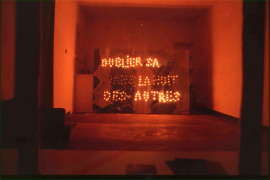 art contemporain contemporary art collectif d'artistes collective people alp le collectif alaplage enseigne enseigne lumineuse poésie galerie roger tator galerie tator superflux fête des lumières Lyon