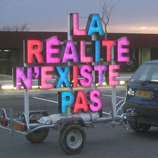 art contemporain contemporary art alp le collectif Manuel Pomar la réalité n'existe pas enseigne mobile collectif artist run space