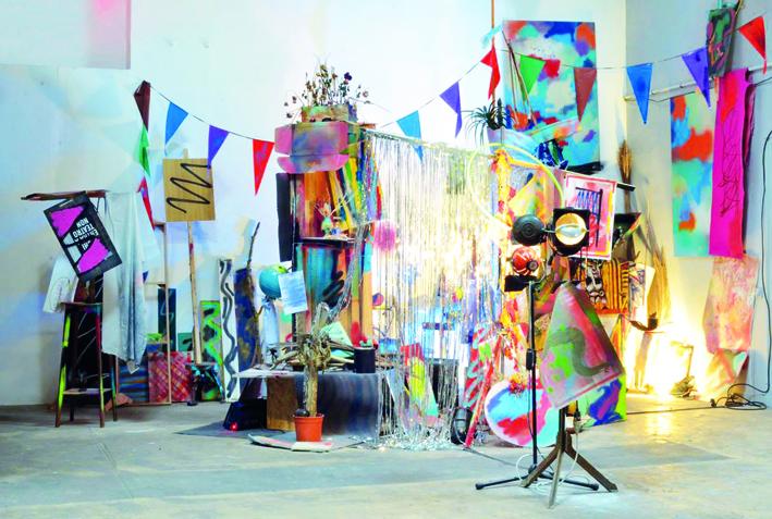 Manuel Pomar art contemporain installation peinture peint Colors